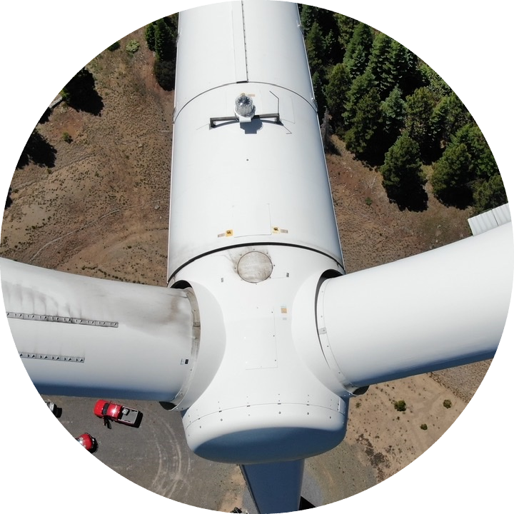 Wind turbine inspection photo from Empower UAV drone pilot.