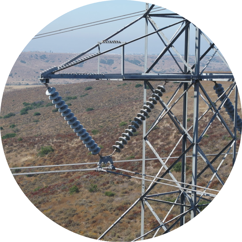 Image taken by Empower UAV pilot, from a transmission tower inspection