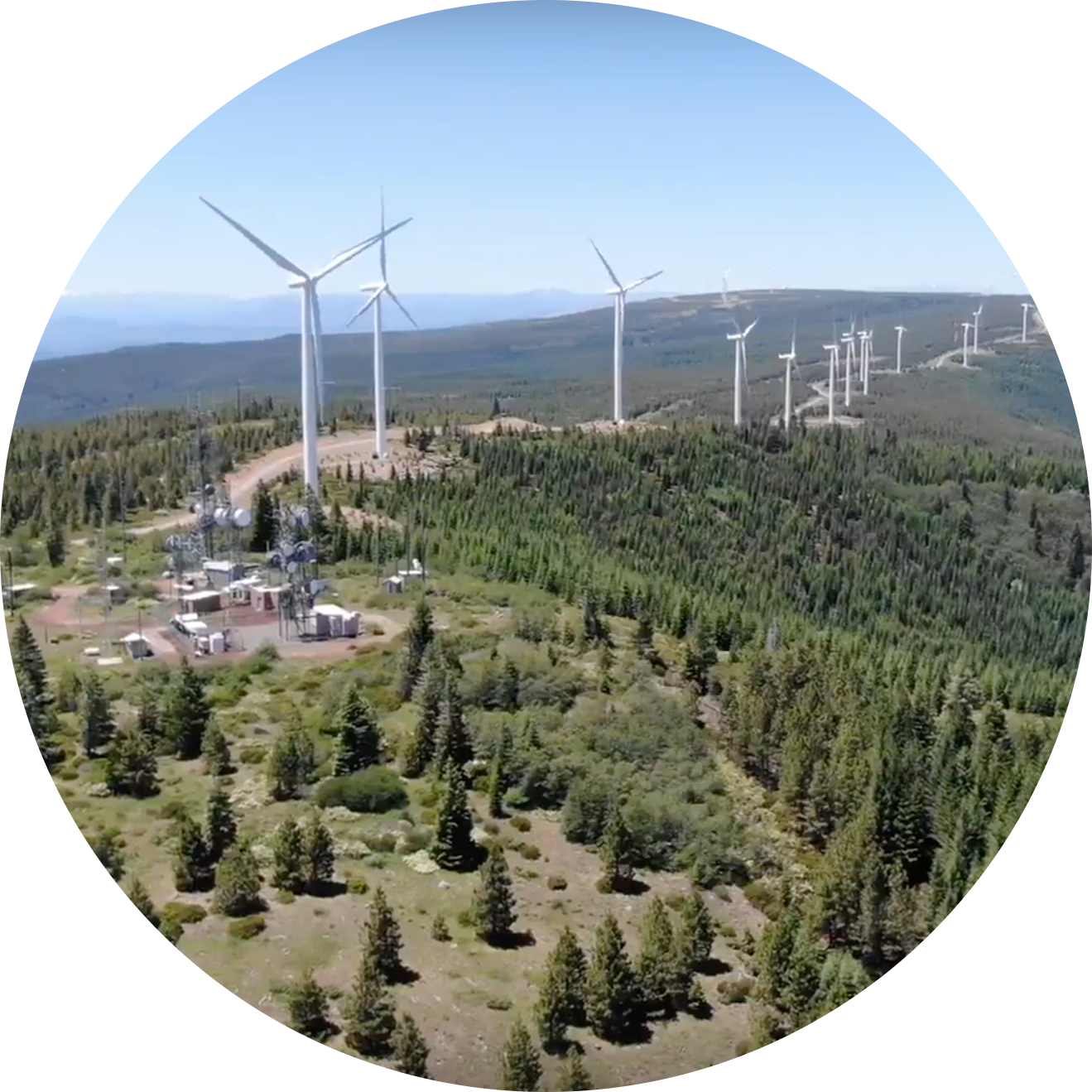 Wind turbines photographed by one of our our drone pilots