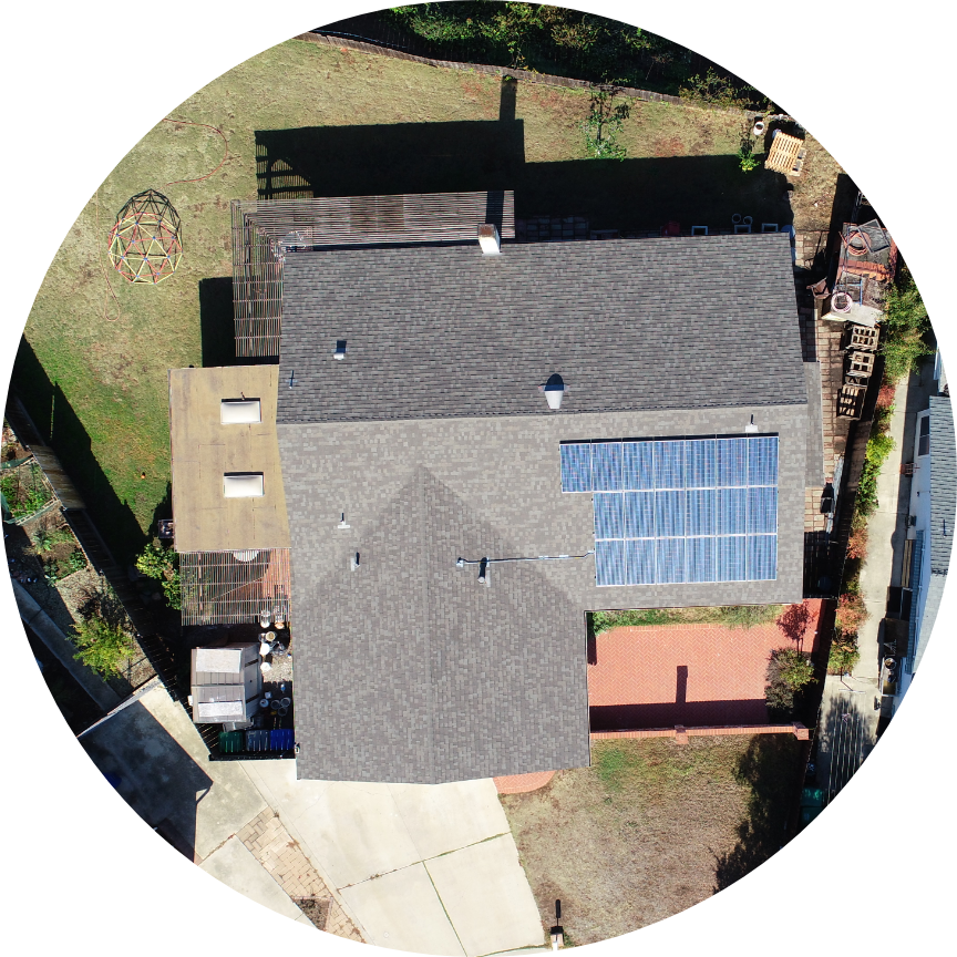 Drones can get the best overhead, bird's eye view shot of roofing.